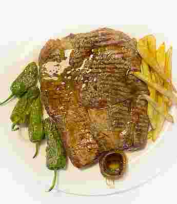 GRILLED SAYAGO CHOP STEAK ACCOMPANIED WITH SIDE DISH